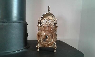 Vintage Smiths Of Gt Britain Mechanical Lantern Domed Brass Carraige Clock
