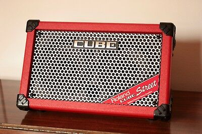 Roland Cube Street (Red) Battery Powered Stereo Amplifier