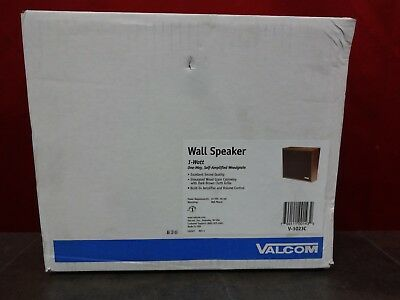 New Valcom V-1023C Wall Speaker 1Watt One way-Self Amplified Woodgrain