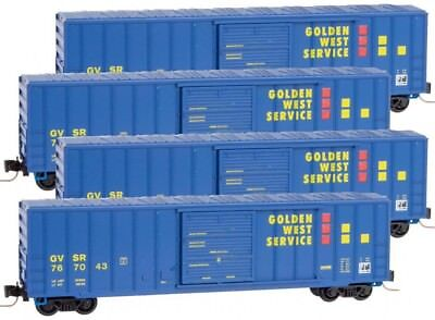 Micro-Trains MTL Z-Scale 50ft Box Cars Golden West Service/GWS - Runner 4-Pack