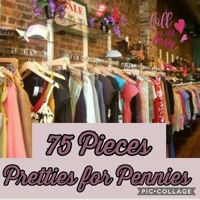 BULK clothing LOT 75 pc Namebrand Resell Wholesale Closeout Womens Clothes