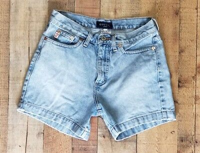 Vintage Guess jean Shorts Womens size 29 logo 90's 6 High Waisted light wash