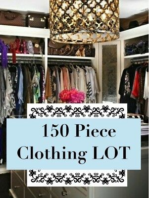 HUGE clothing LOT 150 PIECES Namebrand Resell Wholesale Womens Clothes Bulk lot