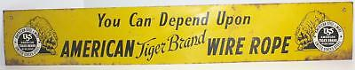 American Steel and Wire Tiger Brand Wire Rope Hardware Store Advertising Sign