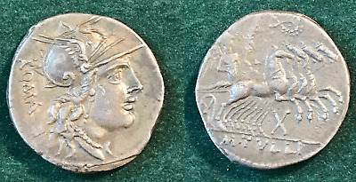 Roman Republic Denarius Of M. Tullius, 119 Bc, Lots Of Eye Appeal