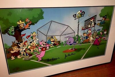 Hanna Barbera Signed Cel Play Ball Very Rare 30 Characters Yogi Huck Scooby Cell