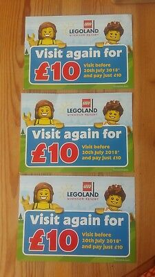Legoland tickets x3 (visit again for £10)