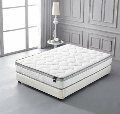 Cool Memory Foam Mattress Queen Size Euro Pillow Top Comfort Plush