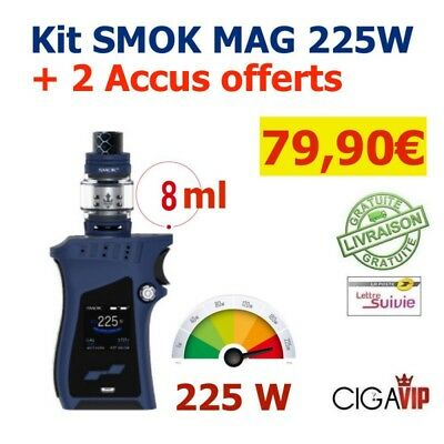 Authentique KIT MOD BOX SMOK MAG 225W + 2 Accus Offerts
