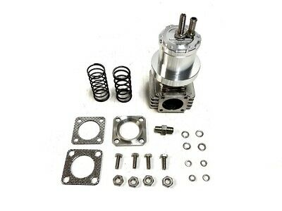 OBX Anodized Silver Intimidator 38mm External Wastegate With 4 Bolt Flange