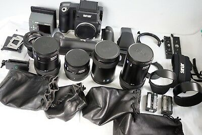 Sinar M +digital back eMotion54 LV+4 ZEISS lenses and many accessories.