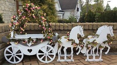 Y219 PRINCESS WEDDING CARRIAGE BIRTHDAY CAKE Cupcake Candy Cart Sweet Cart J