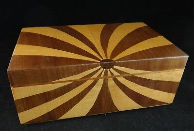 Modern American Handcrafted Wood Jewelry Box. Signed, 2nd ½ 20th c.