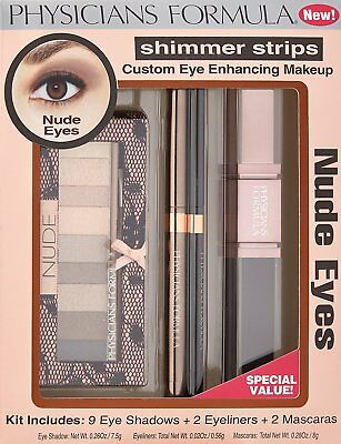 *Physicians Formula Shimmer Strips Custom Eye Enhancing Makeup Kit for Nude Eyes
