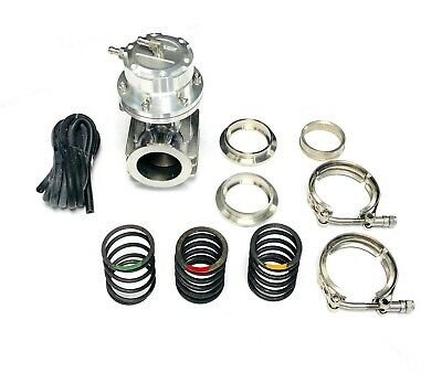 OBX Anodized Silver Intimidator 46mm External Wastegate With V Band Flange