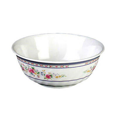 Thunder Group 5306AR 21 oz Rose Pattern Melamine Swirl Bowl - 1 Doz