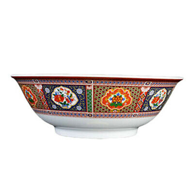 Thunder Group 5060TP 22 oz Peacock Pattern Melamine Rimless Bowl - 1 Doz