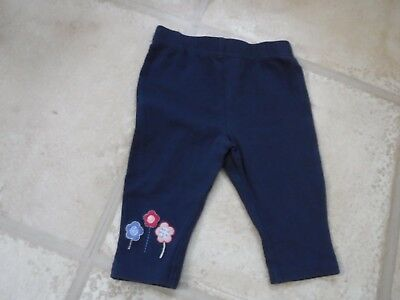 Baby girls leggings blue age 0-3 months - blue with flowers