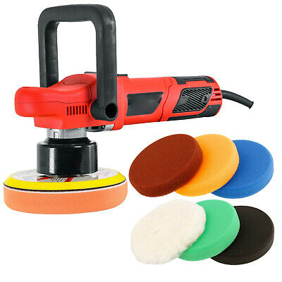 """6"""" Variable Speed Eccentric Orbit Dual-Action Polisher Set w/ 6 Polishing Pads"""