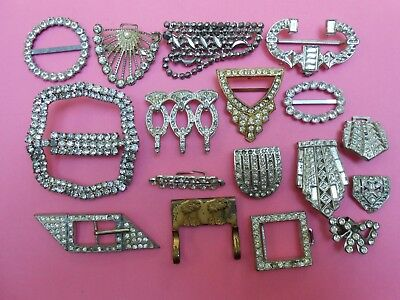 Lot of Vintage Antique Art Deco Buckles and Clips to Repurpose--Kitten Rescue