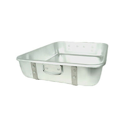 "Thunder Group 24"" x 18"" Heavy Duty Aluminum Stackable Double Roasting Pan"
