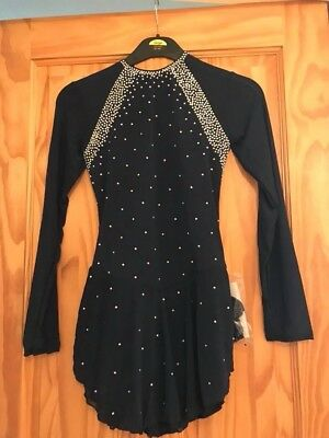 Brand New Ladies Medium Navy Stunning Stoned Ice Skating Dress