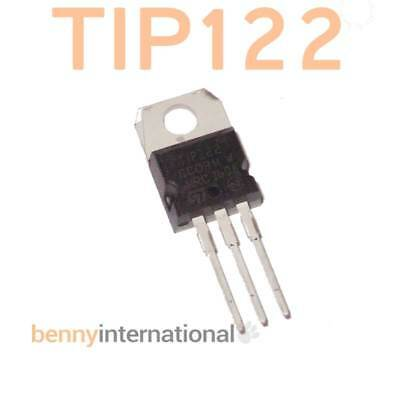 2x TIP122 NPN DARLINGTON TRANSISTOR 8A 100V TO220