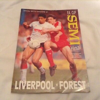 Liverpool v Nottingham Forest - 1989 FA Cup Semi-final Official Programme