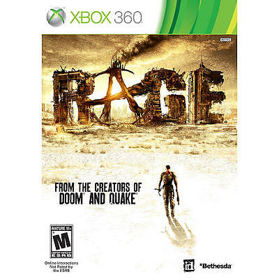 Rage (Microsoft Xbox 360, 2011) PLATINUM HITS     LIKE NEW       FAST SHIPPING!!