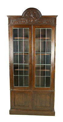 Antique Oak Bookcase, Arts and Crafts Bookcase, Scotland 1910, Antique Furniture