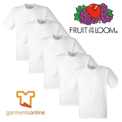 1 5 10 20 Pack Fruit Of The Loom White Mens Cotton T-Shirts Wholesale S-5Xl Bulk