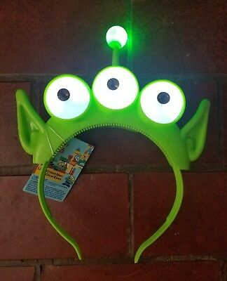Disney Parks Pixar Fest Toy Story Green Men Alien Light Glow Ears headband