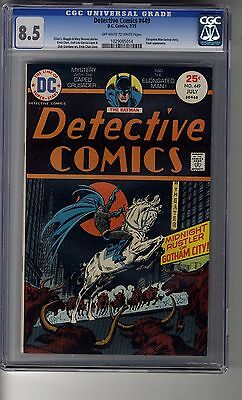 Detective Comics (1937) # 449 - CGC 8.5 OW/WHITE Pages - First Zachary Wolfe