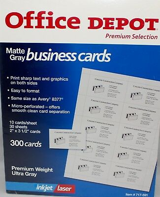 New office depot business card binder pages 8 12 x 11 clear pack office depot business cards inkjet laser 2 x 3 12 matte gray 300 reheart Choice Image
