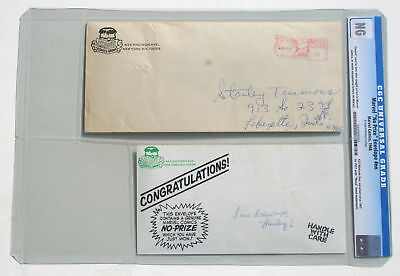 CGC Authenticated 1968 MARVEL NO PRIZE HULK ENVELOPE * Flo Steinberg Marvelmania