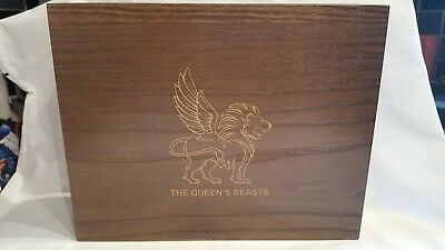 queens beasts silver coins box