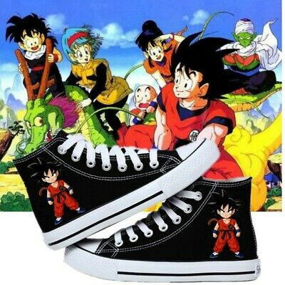 Dragon Ball Monkey King cosplay High help personality Leisure flat canvas shoes