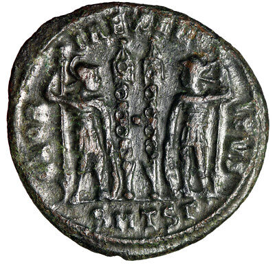 HIGH QUALITY Soldiers Roman Coin of Emperor Constantius II 330-335 AD Authentic