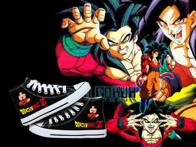 New!Anime Dragon Ball Monkey King cosplay High help Leisure flat canvas shoes