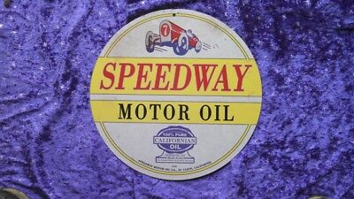 Sign for the MAN CAVE*** SPEEDWAY MOTOR OIL ***