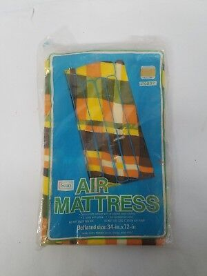"Vintage Sears Nylon Air Mattress Collectible New Old Stock 34"" x 72"" Free S&H"