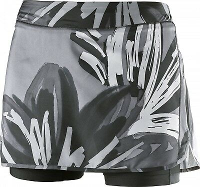 (Medium, Black/Quiet Shade/Forged Iron) - Salomon Women's Agile Skorts