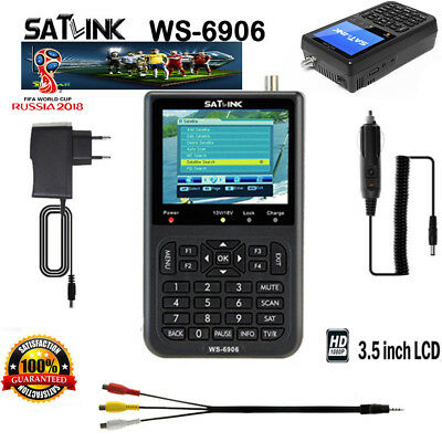 SATLINK WS-6906 Satellite Signal Finder DVB-S FTA Data HD Digital Meter Dish 3.5