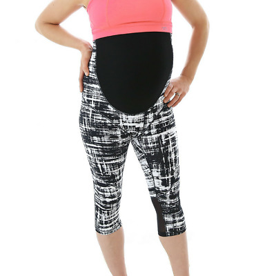 3/4 Pregnancy Maternity Tights - Monochrome