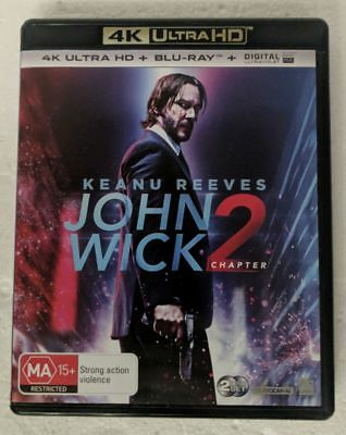 JOHN WICK Chapter 2 4K ULTRA HD + BLU-RAY oz seller Keanu Reeves UHD HDR DVD
