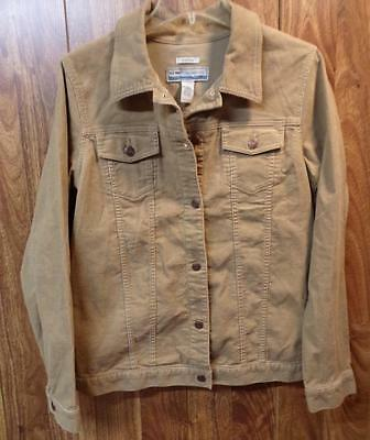 Old Navy Maternity Corduroy Jacket Tan Beige Button Up Womens Large