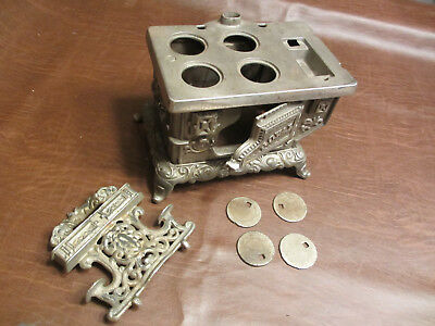 Vintage Antique Kenton Toys Cast Iron Childs Royal Toy Stove Oven #1 - See More!