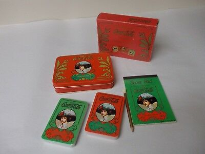 Old Fashsion Coca-Cola Tin and Playing Card Set 2 Sealed Decks
