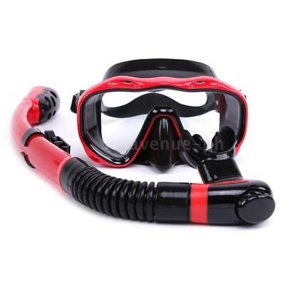 Underwater Full Dry Breathing Tube Diving Goggles Toughened Glass Mask Suit Y8F5