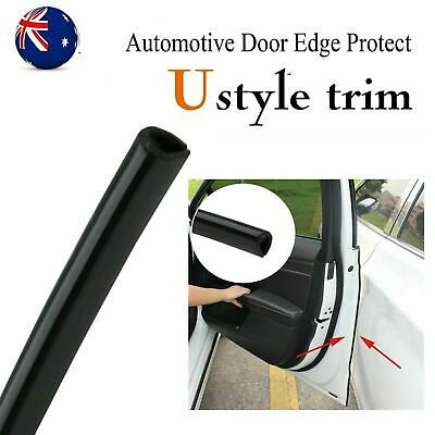 8Ms Chrome Silver U Look Moulding Trim Car Door Edge Guard Flexible Decor Strips